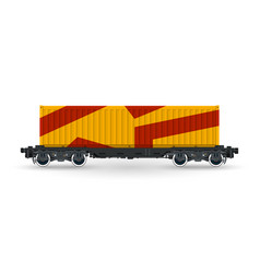 orange railway container isolated vector image vector image