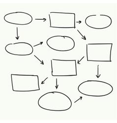 Abstract flowchart design vector image vector image