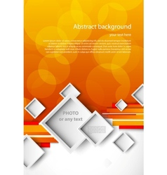 Abstract orange brochure vector image vector image