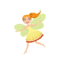Cute Redhead Fairy Girly Cartoon Character vector image vector image