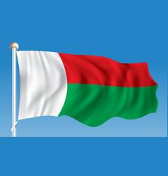 flag of madagascar vector image