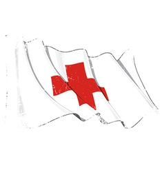 Grunge Flag of Red Cross vector image vector image