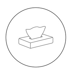 napkin icon outline single tattoo icon from the vector image