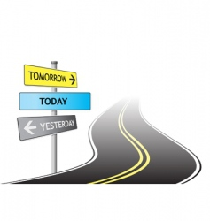 road and signs vector image vector image