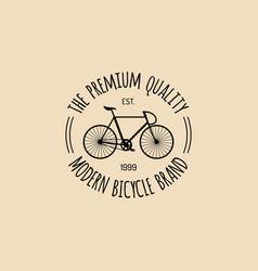 Vintage hipster bicycle logo modern vector