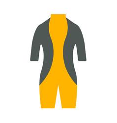 Diving suit icon tourism equipment vector
