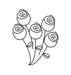 figure round roses icon vector image