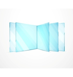 glass plates vector image vector image