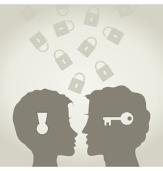 Key and the lock vector image