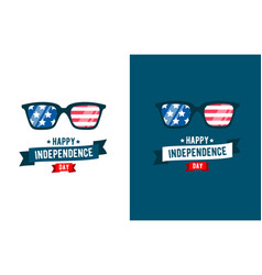 sunglasses patriot independence day 4th of july vector image