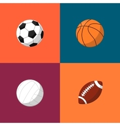 Various balls icons set Sport equipment vector image vector image