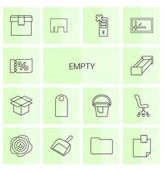 14 empty icons vector