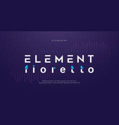abstract digital modern alphabet fonts technology vector image