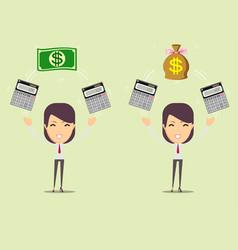 accountant at work savings finances and economy vector image