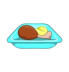 Airplane lunch icon cartoon style vector