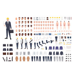 Architect or engineer constructor or diy kit vector