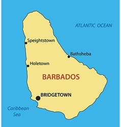 Barbados - map vector