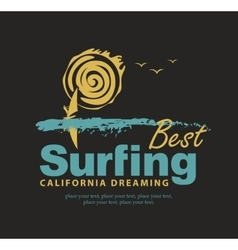 Best surfing in California vector