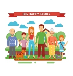 Big Family vector