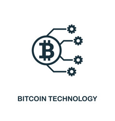 bitcoin technology icon creative element design vector image