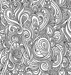 Black and white seamless pattern in a zentangle vector