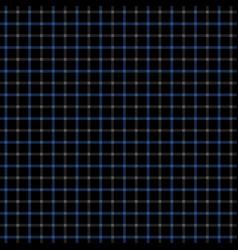 black blue tattersall pattern vector image
