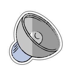 Cartoon speaker sound volume icon vector