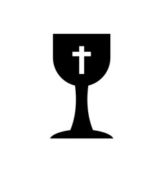 Christian cup icon vector