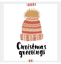 Christmas greeting - Holiday unique handwritten vector