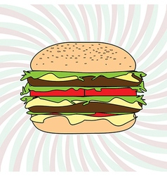 Classic hamburger design element vector