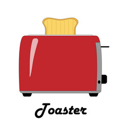 color of the toaster vector image