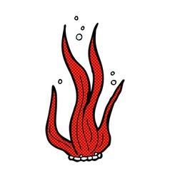 Comic cartoon seaweed vector