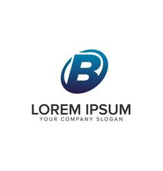 creative modern letter b logo design concept vector image