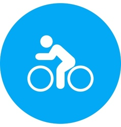 Cycling Person vector image