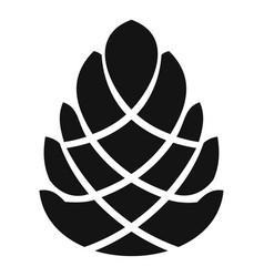 Decoration pine cone icon simple style vector