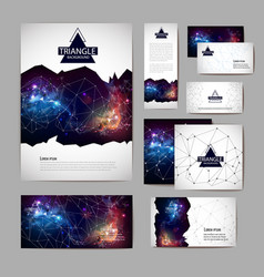 Document template with polygonal geometric space vector