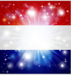 Dutch flag background vector