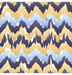 Ethnic seamless pattern - beige blue ikat pattern vector