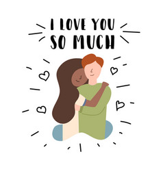 flat banner i love you so much vector image