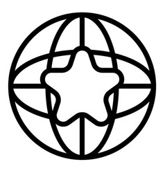 Global adword icon outline style vector