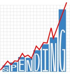 Government big spending chart vector