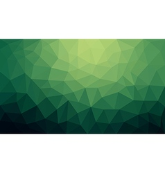 Green gradient abstract polygon background vector