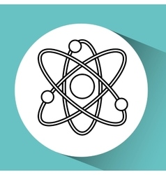 Hand holding atom research vector