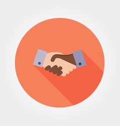 handshake icon flat vector image