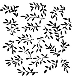 High quality art branches vector