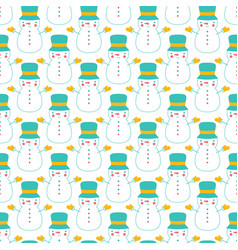 holiday seamless pattern with cartoon vector image