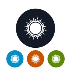 Icon sun with rays vector