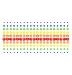 internet shape halftone spectrum array vector image