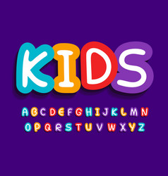 kids letters set funny creative bright vector image
