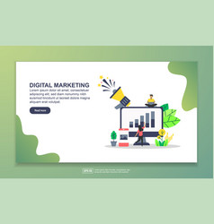 landing page template digital marketing modern vector image